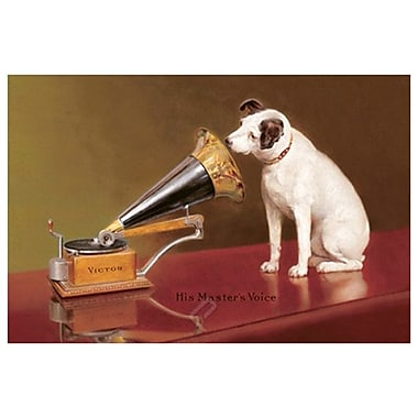 His Master's Voice Ad, Stretched Canvas, 24