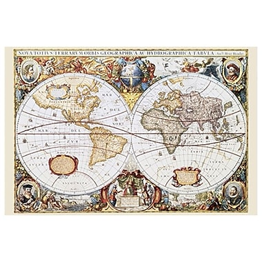 Map of the World, Historial, Stretched Canvas, 24