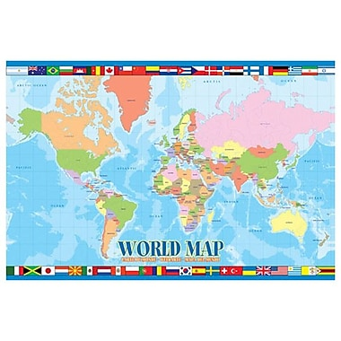 World Map for Kids, Stretched Canvas, 24