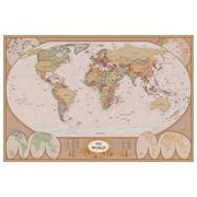 Carte du monde, toile tendue, 24 x 36 po