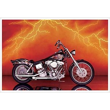 Moto personnalisée 1997, toile tendue, 24 x 36 po