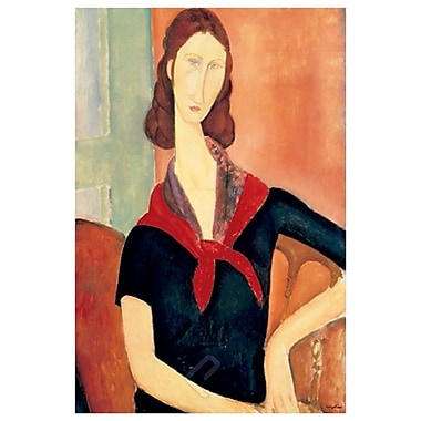 Young Woman Scarf by Modigliani, Canvas, 24