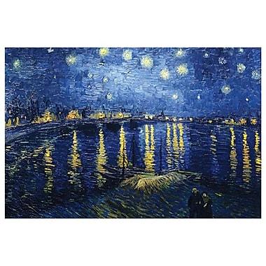 Nuit étoilée sur le Rhône de Van Gogh, toile, 24 x 36 po