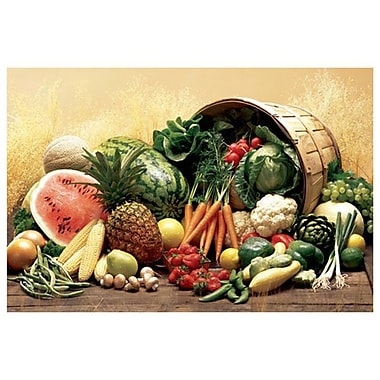 Fruits & Vegetables, Stretched Canvas, 24