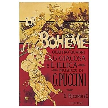 « La Bohème, Musica di Puccini » de Hohenstein, 24 x 36 po