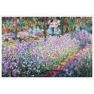 Le jardin de l'artiste à Giverny de Monet, toile, 24 x 36 po