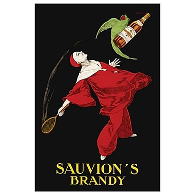 Sauvion's Brandy by Cappiello, Canvas, 24