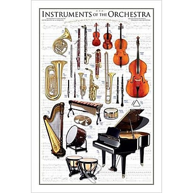 Instruments of the Orchestra, toile tendue, 24 x 36 po
