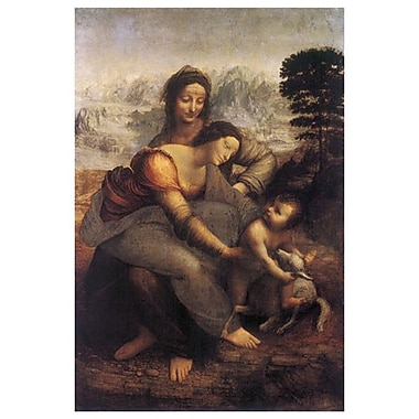 Virgin Child & St Anne by da Vinci, Canvas, 24