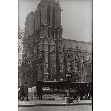 La cathédrale Notre-Dame de Paris, toile tendue, 24 x 36 po