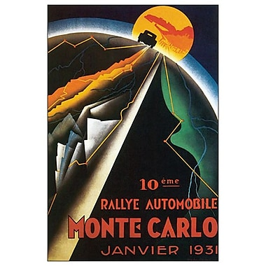 Rallye Monte Carlo, Stretched Canvas, 24
