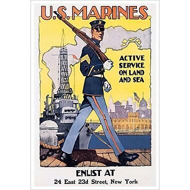 U.S. Marines de Reisenberg, toile, 24 x 36 po
