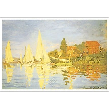 Regatta At Argenteuil by Monet, Canvas, 24