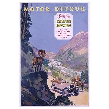 Motor Detour, toile tendue, 24 x 36 po