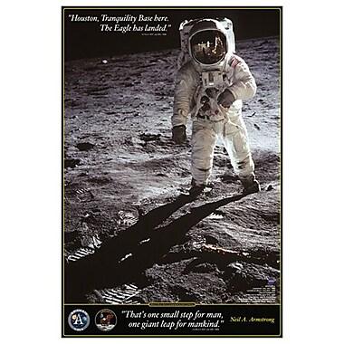 Marche sur la Lune, toile tendue, 24 x 36 po