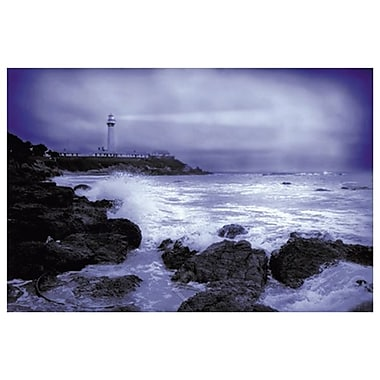 Lighthouse at Dusk, Stretched Canvas, 24