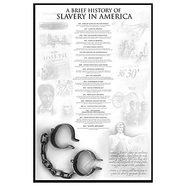 History of Slavery in America, Stretched Canvas, 24
