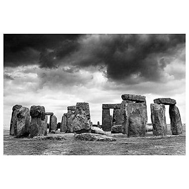 Stonehenge (bandw), Stretched Canvas, 24