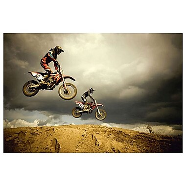 Motocross - Big Air, Stretched Canvas, 24