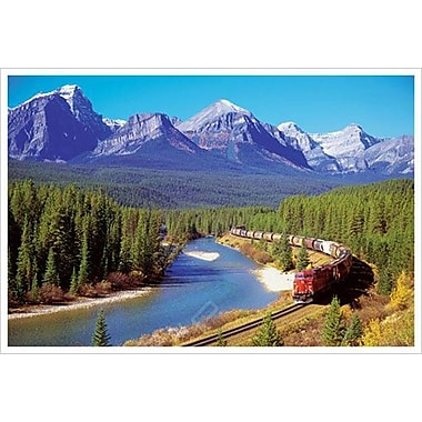 Train In The Rockies, Stretched Canvas, 24