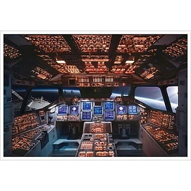 Cabine de pilotage de la navette Columbia, toile tendue, 24 x 36 po