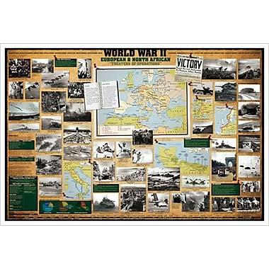 Deuxième Guerre mondiale – Europe et Afrique du Nord, toile tendue, 24 x 36 po
