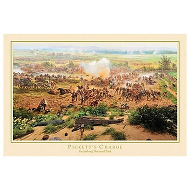 La Charge de Pickett à Gettysburg, toile tendue, 24 x 36 po