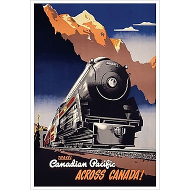 Canadian Pacific Across Canada, toile tendue, 24 x 36 po