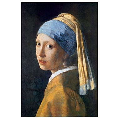 Girl Pearl Earring by Vermeer, Canvas, 24