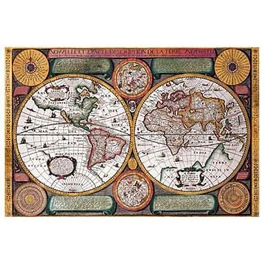 Map - Terre Universelle, Stretched Canvas, 24