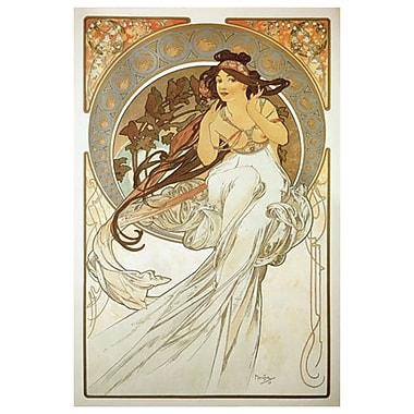 The Arts Music by Mucha, Canvas, 24