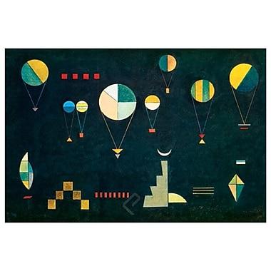 Plat profond de Kandinsky, toile, 24 x 36 po