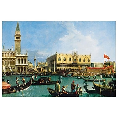 San Marco Bassin by Canaletto, Canvas, 24