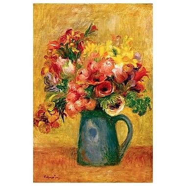 Pot de fleurs de Renoir, toile, 24 x 36 po