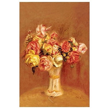 Roses in Sevres Vase by Renoir, Canvas, 24