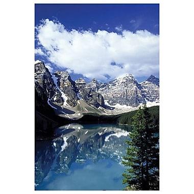 Lac Moraine I - Banff, toile tendue de 24 x 36 po