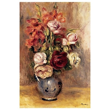 Vase of Gladiolas&Roses by Renoir, Canvas, 24