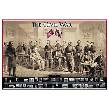 La guerre civile, toile étirée, 24 x 36 po