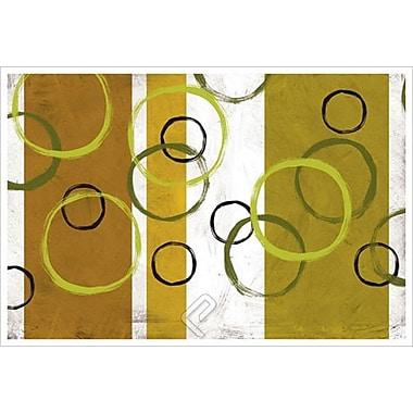 Anneaux et rubans I par Kandiny, toile, 24 x 36 po