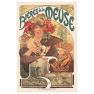 Meuse Beer by Mucha, Canvas, 24