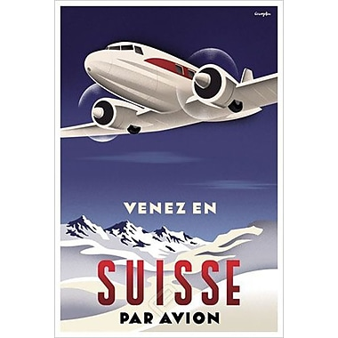 Suisse par Avion by Crampton, Canvas, 24