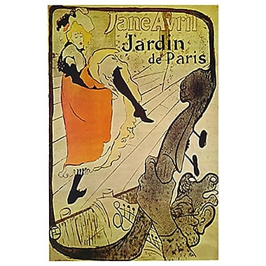 Jane Avril by Toulouse-Lautrec, Canvas, 24
