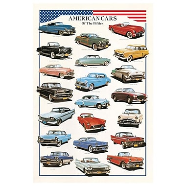 American Cars of the Fifties, Stretched Canvas, 24