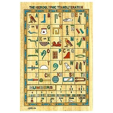 Transcription hiéroglyphique, toile tendue, 24 x 36 po