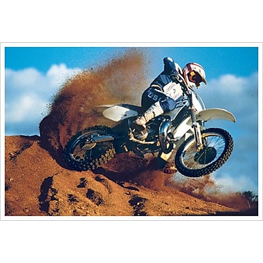 Motocross, toile, 24 x 36 po