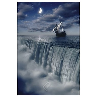 Sailboat Waterfall Earth's End, Stretched Canvas, 24