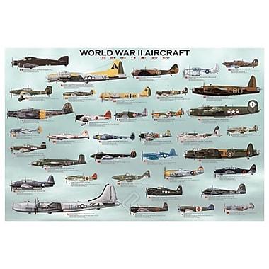 Avions de la Seconde Guerre mondiale, toile tendue, 24 x 36 po