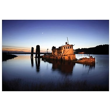 Gold Beach Sunk Boat by Settle, Canvas, 24