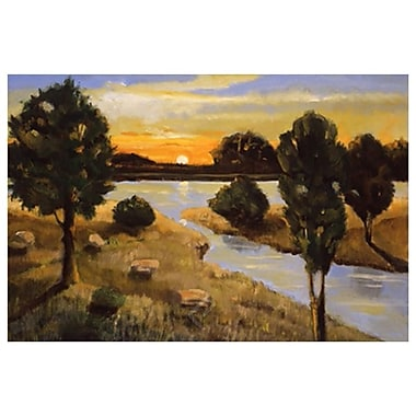 Day Ending Lake by D'Agostino, Canvas, 24