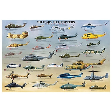 Military Helicopters, Stretched Canvas, 24